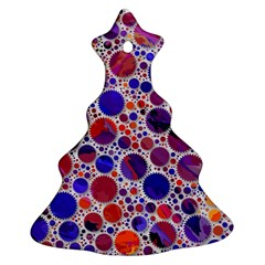 Lovely Allover Hot Shapes Blue Christmas Tree Ornament (2 Sides)
