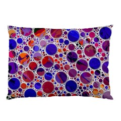 Lovely Allover Hot Shapes Blue Pillow Cases (Two Sides)