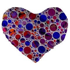 Lovely Allover Hot Shapes Blue Large 19  Premium Heart Shape Cushions