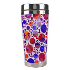 Lovely Allover Hot Shapes Blue Stainless Steel Travel Tumblers