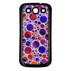 Lovely Allover Hot Shapes Blue Samsung Galaxy S3 Back Case (Black)