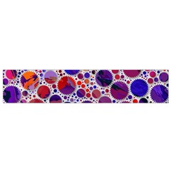 Lovely Allover Hot Shapes Blue Flano Scarf (Small)