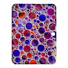 Lovely Allover Hot Shapes Blue Samsung Galaxy Tab 4 (10.1 ) Hardshell Case
