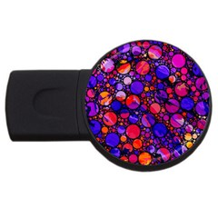 Lovely Allover Hot Shapes USB Flash Drive Round (1 GB)