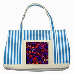 Lovely Allover Hot Shapes Striped Blue Tote Bag