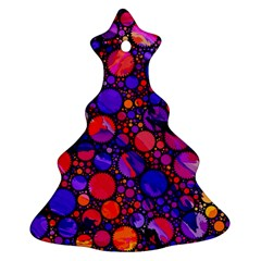 Lovely Allover Hot Shapes Christmas Tree Ornament (2 Sides)