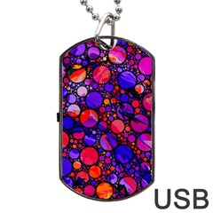 Lovely Allover Hot Shapes Dog Tag USB Flash (One Side)