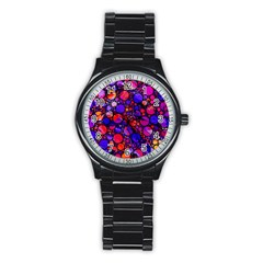 Lovely Allover Hot Shapes Stainless Steel Round Watches