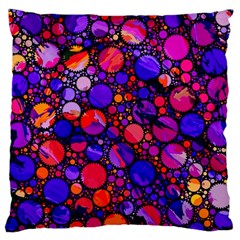 Lovely Allover Hot Shapes Large Flano Cushion Cases (one Side)
