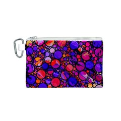 Lovely Allover Hot Shapes Canvas Cosmetic Bag (S)