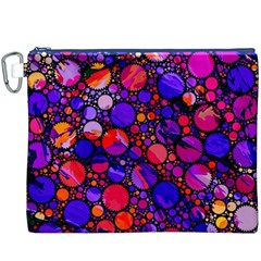 Lovely Allover Hot Shapes Canvas Cosmetic Bag (XXXL)