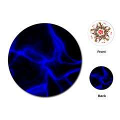 Cosmic Energy Blue Playing Cards (Round)