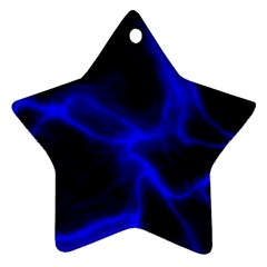 Cosmic Energy Blue Star Ornament (two Sides)
