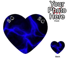 Cosmic Energy Blue Playing Cards 54 (heart)