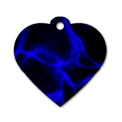 Cosmic Energy Blue Dog Tag Heart (one Side)