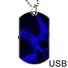 Cosmic Energy Blue Dog Tag Usb Flash (one Side)