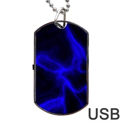 Cosmic Energy Blue Dog Tag USB Flash (Two Sides)