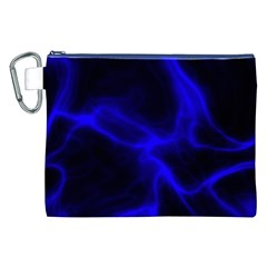 Cosmic Energy Blue Canvas Cosmetic Bag (XXL)