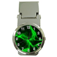Cosmic Energy Green Money Clip Watches