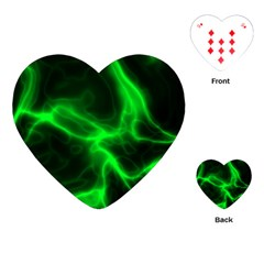 Cosmic Energy Green Playing Cards (heart)