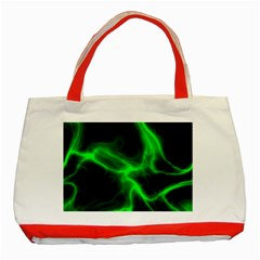 Cosmic Energy Green Classic Tote Bag (red)