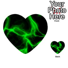 Cosmic Energy Green Multi-purpose Cards (Heart)