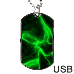Cosmic Energy Green Dog Tag USB Flash (Two Sides)