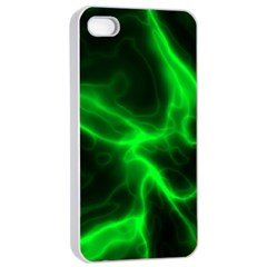 Cosmic Energy Green Apple iPhone 4/4s Seamless Case (White)