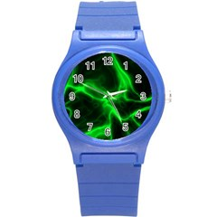 Cosmic Energy Green Round Plastic Sport Watch (S)