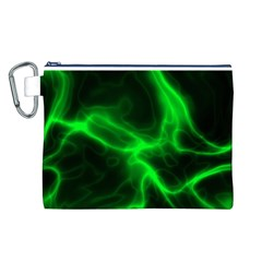 Cosmic Energy Green Canvas Cosmetic Bag (L)