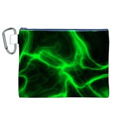 Cosmic Energy Green Canvas Cosmetic Bag (XL)