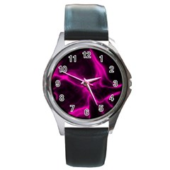 Cosmic Energy Pink Round Metal Watches