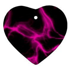 Cosmic Energy Pink Heart Ornament (2 Sides)