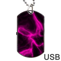 Cosmic Energy Pink Dog Tag USB Flash (One Side)