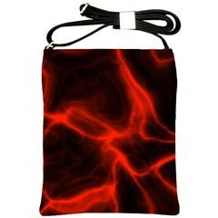 Cosmic Energy Red Shoulder Sling Bags