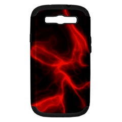 Cosmic Energy Red Samsung Galaxy S III Hardshell Case (PC+Silicone)