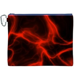 Cosmic Energy Red Canvas Cosmetic Bag (XXXL)