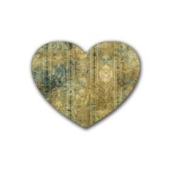Beautiful  Decorative Vintage Design Rubber Coaster (Heart)