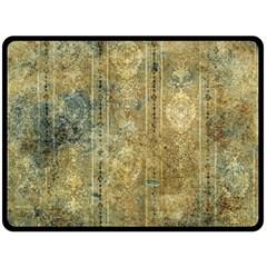 Beautiful  Decorative Vintage Design Fleece Blanket (large)