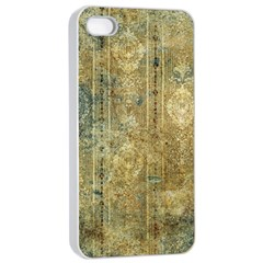 Beautiful  Decorative Vintage Design Apple iPhone 4/4s Seamless Case (White)