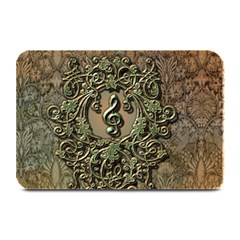 Elegant Clef With Floral Elements On A Background With Damasks Plate Mats
