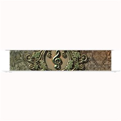 Elegant Clef With Floral Elements On A Background With Damasks Small Bar Mats