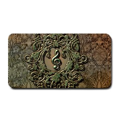 Elegant Clef With Floral Elements On A Background With Damasks Medium Bar Mats