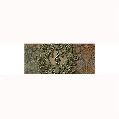 Elegant Clef With Floral Elements On A Background With Damasks Large Bar Mats