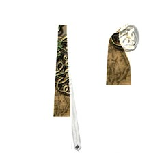 Elegant Clef With Floral Elements On A Background With Damasks Neckties (two Side)