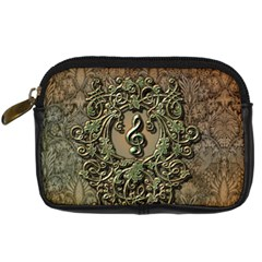 Elegant Clef With Floral Elements On A Background With Damasks Digital Camera Cases