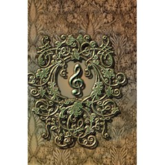 Elegant Clef With Floral Elements On A Background With Damasks 5.5  x 8.5  Notebooks