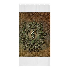 Elegant Clef With Floral Elements On A Background With Damasks Shower Curtain 36  x 72  (Stall)