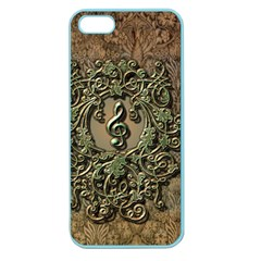Elegant Clef With Floral Elements On A Background With Damasks Apple Seamless iPhone 5 Case (Color)