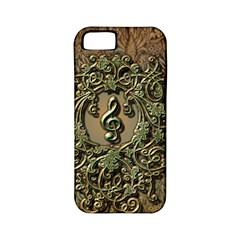 Elegant Clef With Floral Elements On A Background With Damasks Apple iPhone 5 Classic Hardshell Case (PC+Silicone)
